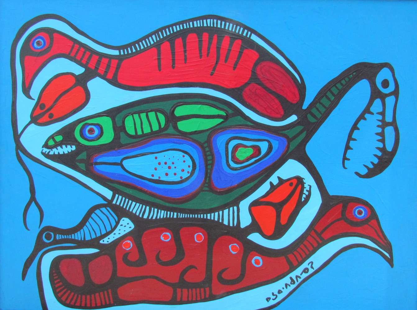 Norval Morrisseau Art and Artwork For Sale by Pegasus ... | 1342 x 998 jpeg 366kB
